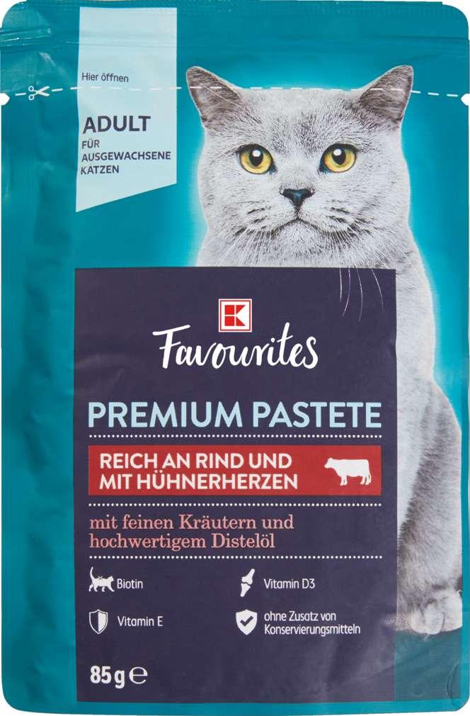 Abbildung des Sortimentsartikels K-Favourites Katzennahrung Rind mit Hühnerherz 85g