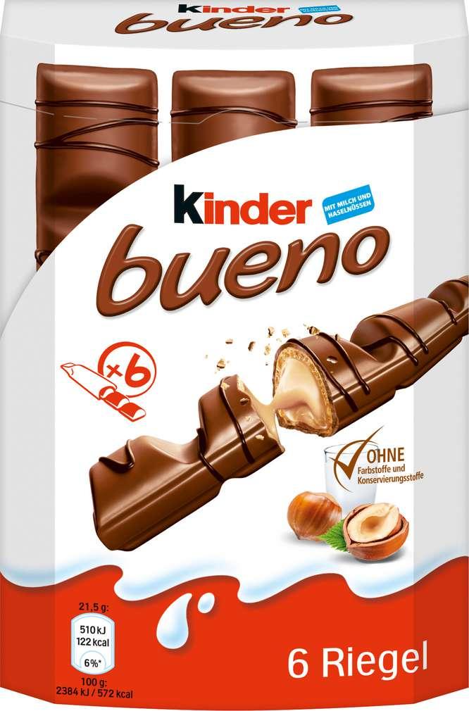 Abbildung des Sortimentsartikels Kinder Bueno 6 Stück