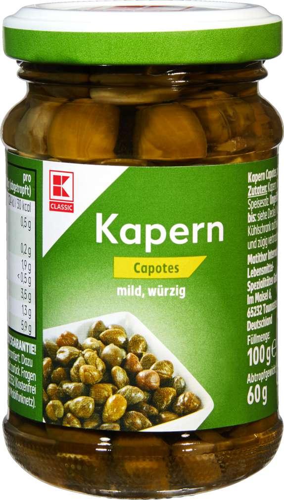Abbildung des Sortimentsartikels K-Classic Kapern Capotes 100g
