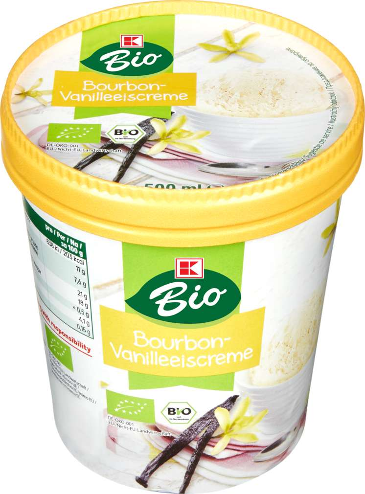 Abbildung des Sortimentsartikels K-Bio Vanille Eis 500ml