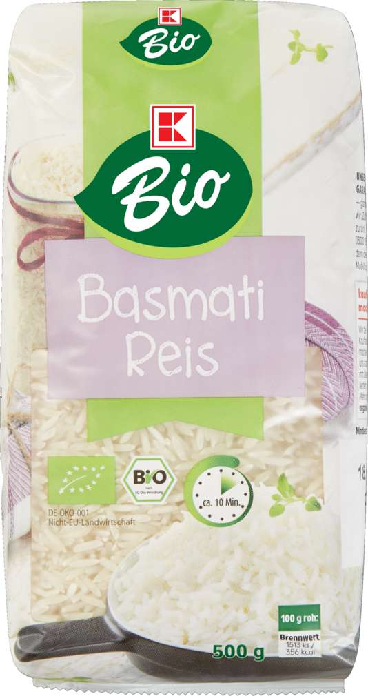 Abbildung des Sortimentsartikels K-Bio Basmati Reis 500g