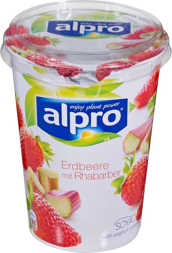 Abbildung des Sortimentsartikels Alpro Soja-Joghurtalternative Erdbeere mit Rhabarber 500g
