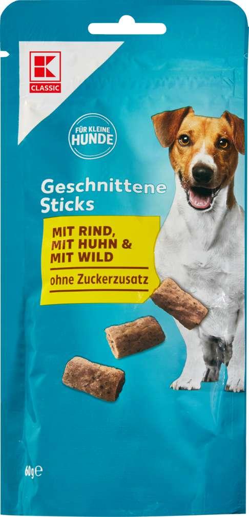 Abbildung des Sortimentsartikels K-Classic Hund Belohnungssnack Sticks geschnitten 60g