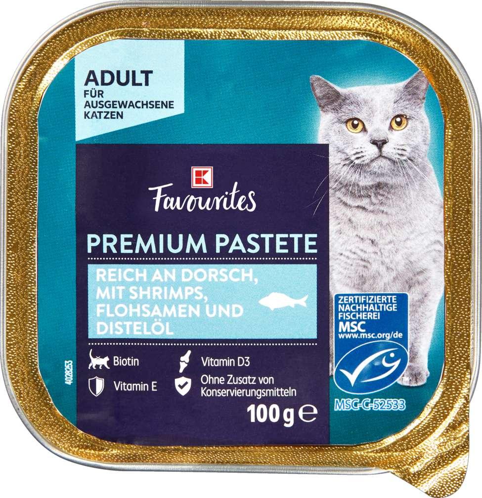 Abbildung des Sortimentsartikels K-Favourites Katzennahrung MSC Dorsch, Shrimps 100g