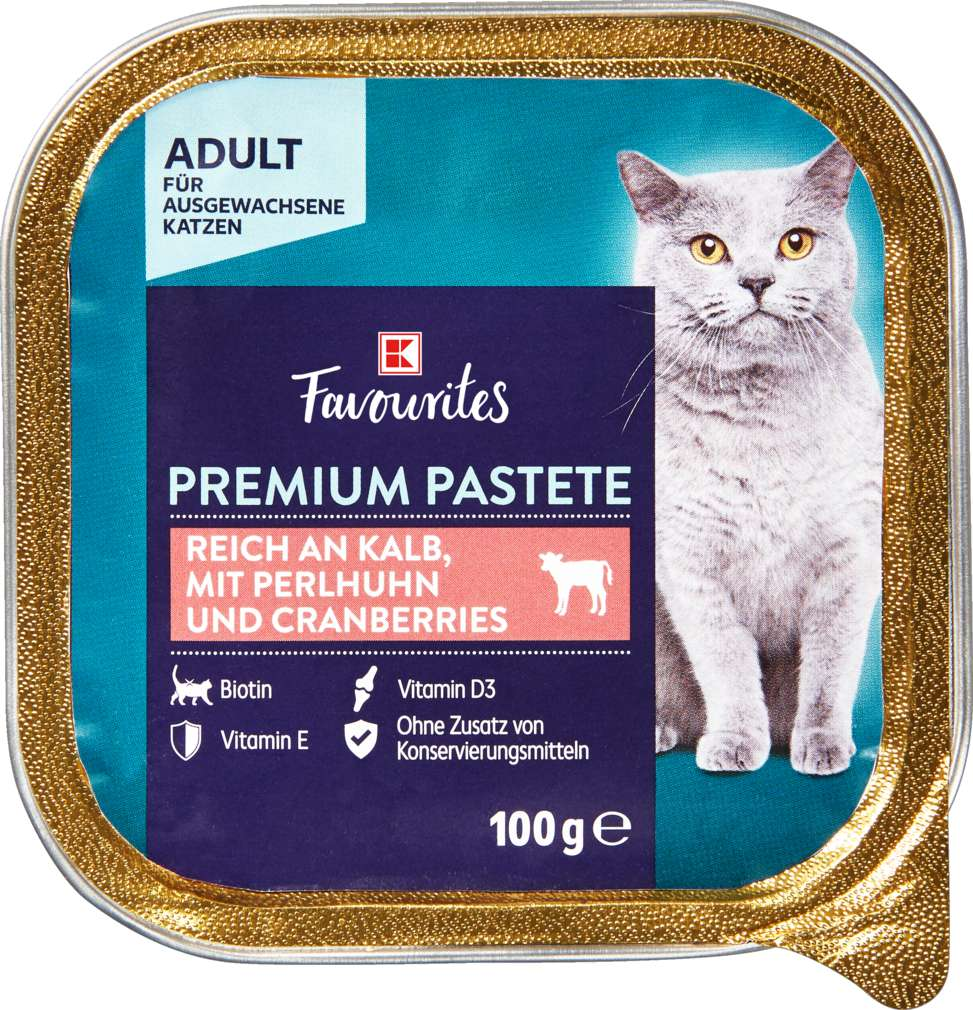 Abbildung des Sortimentsartikels K-Favourites Katzennahrung Kalb,Perlhuhn und Cranberry 100g