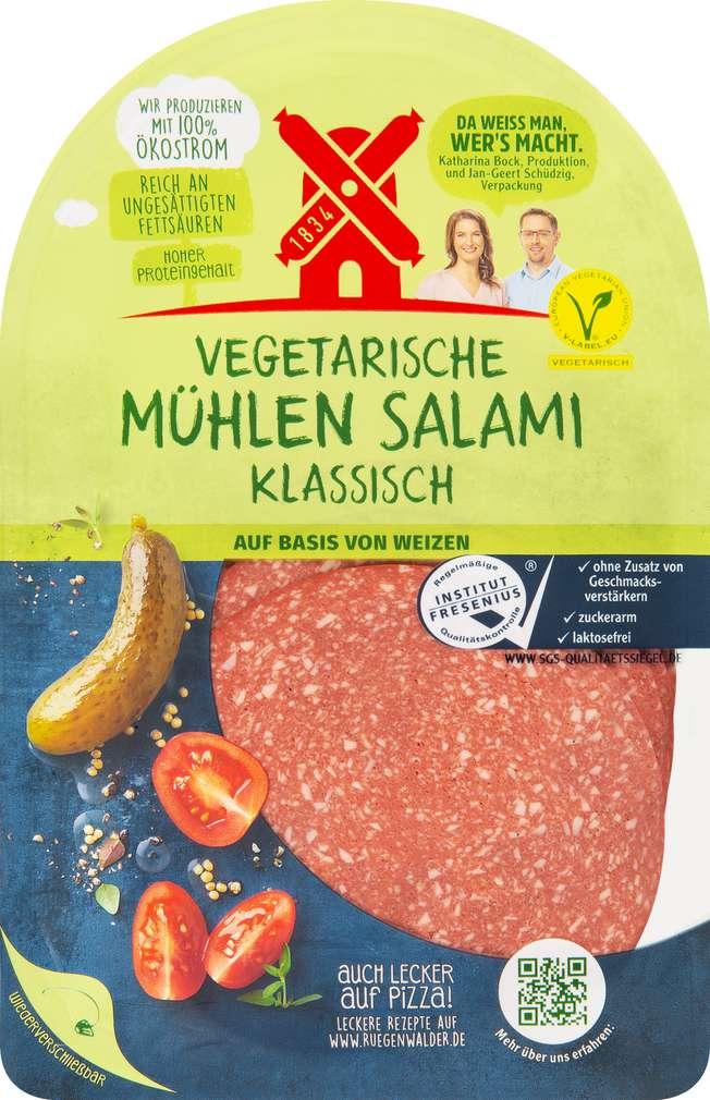 Abbildung des Sortimentsartikels Rügenwalder Mühle Vegetarsiche Mühlen Salami 80g
