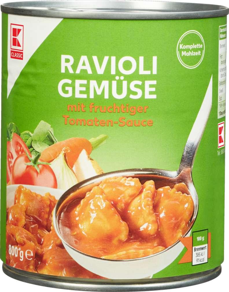 Abbildung des Sortimentsartikels K-Classic Ravioli Gemüse 800g
