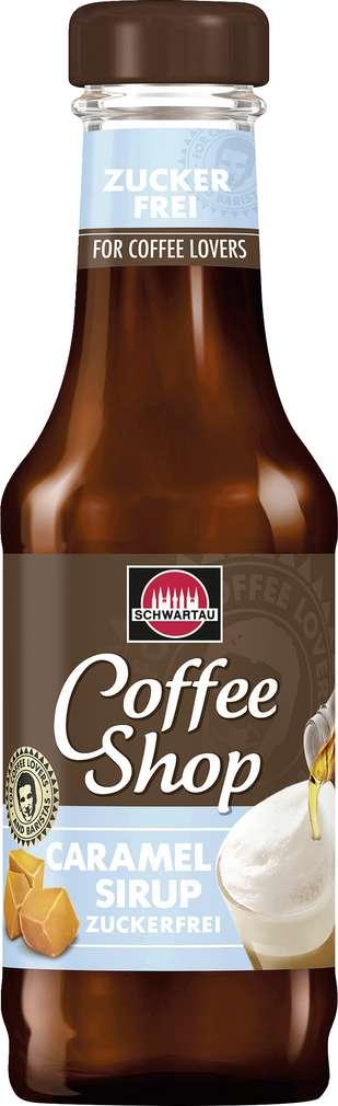 Abbildung des Sortimentsartikels Schwartau Coffee Shop Caramel Sirup Zuckerfrei 200ml