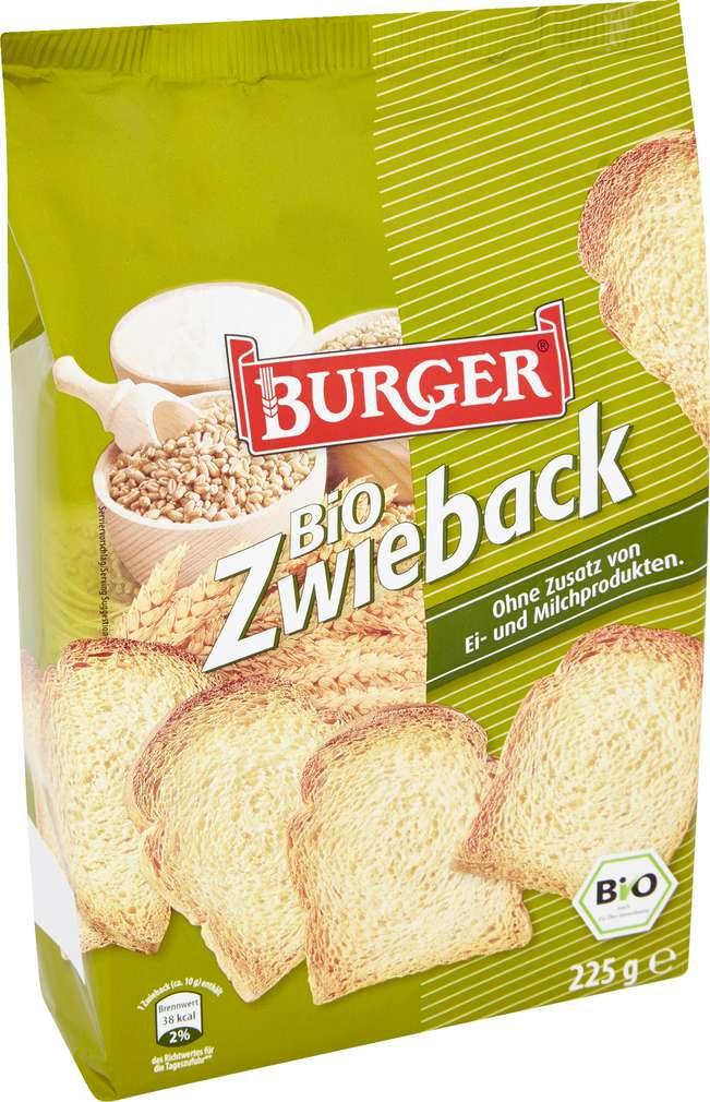 Abbildung des Sortimentsartikels Burger Bio Zwieback 225g