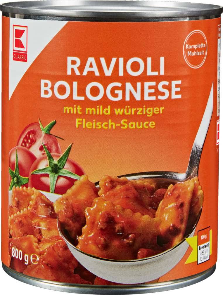 Abbildung des Sortimentsartikels K-Classic Ravioli Bolognese 800g