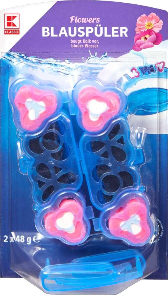 Abbildung des Sortimentsartikels K-Classic WC-Duftquartett Blauspüler Flower 2x48g