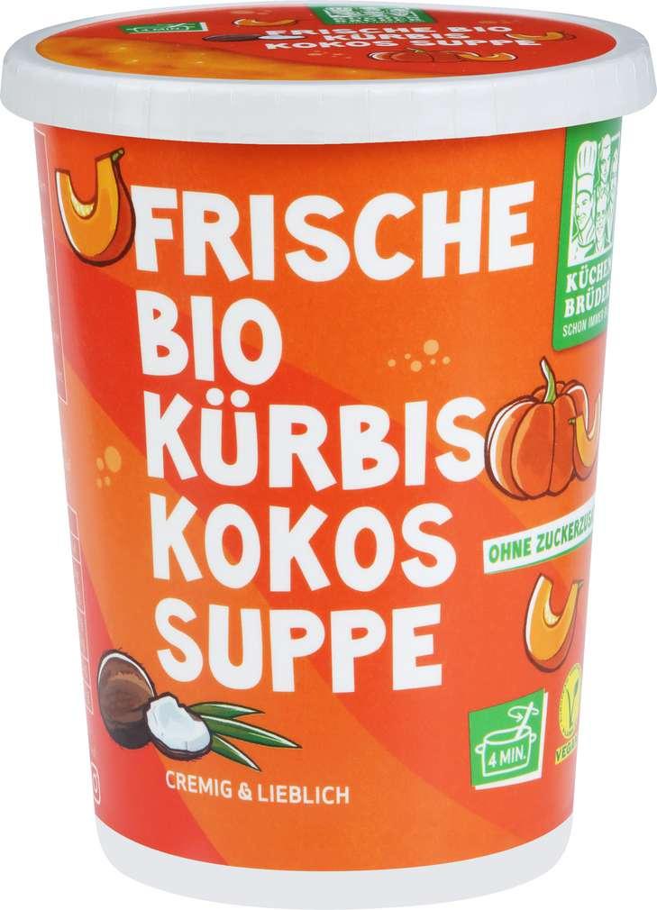 Abbildung des Sortimentsartikels Küchenbrüder Frische Bioland Kürbissuppe mit Kokos 450ml