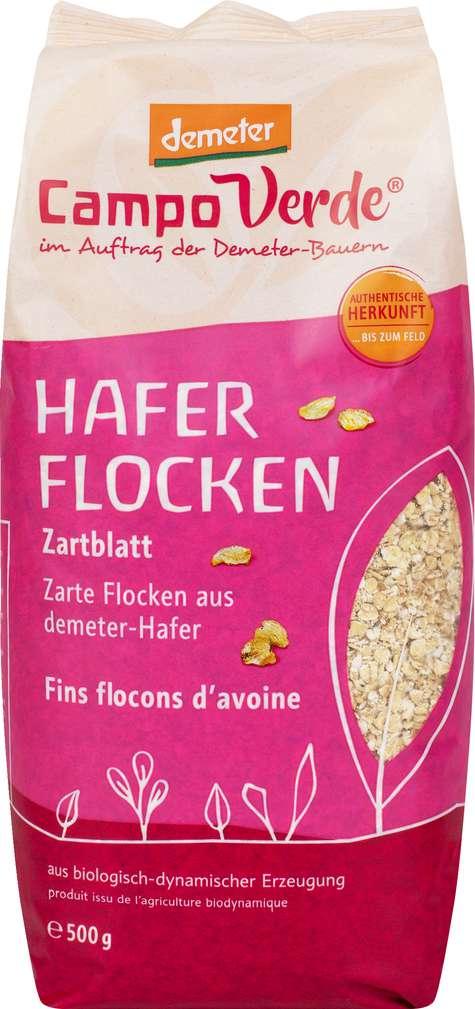 Abbildung des Sortimentsartikels Campo Verde Demeter Haferflocken Zartblatt 500g
