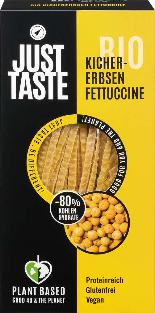 Abbildung des Sortimentsartikels Just Taste Bio vegane Kichererbsen Fettuccine 250g