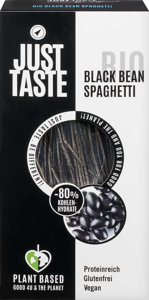 Abbildung des Sortimentsartikels Just Taste Bio glutenfrei vegan Schwarz Bohnen Spaghetti 250g