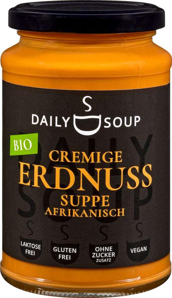 Abbildung des Sortimentsartikels Daily Soup Bio Cremige Erdnusssuppe afrikanisch 380ml