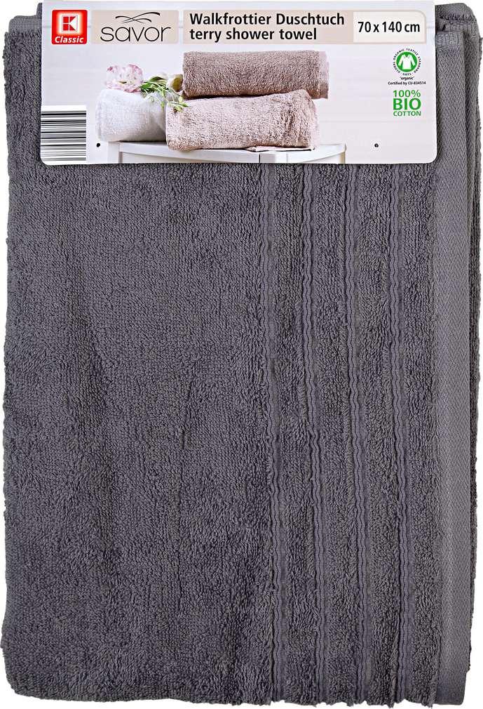 Abbildung des Sortimentsartikels Liv & Bo Duschtuch grau 70 x 140cm