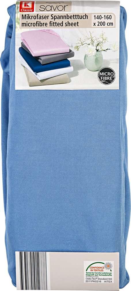 Abbildung des Sortimentsartikels Liv & Bo Mikrofaser Spannbetttuch hellblau 140-160 x 200cm