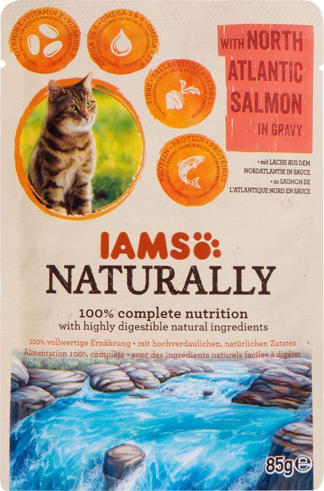 Abbildung des Sortimentsartikels IAMS Naturally mit Lachs 85g