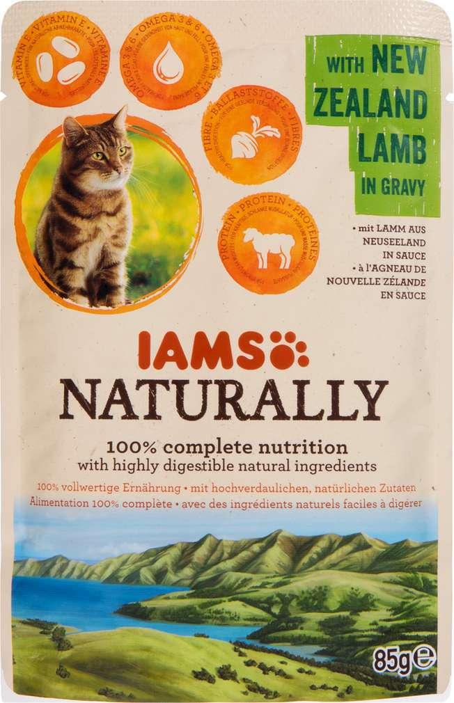 Abbildung des Sortimentsartikels IAMS Naturally mit Lamm 85g