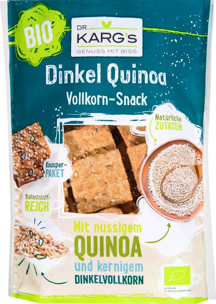 Abbildung des Sortimentsartikels Dr. Karg's Dinkel Quinoa Vollkorn-Snack 110g