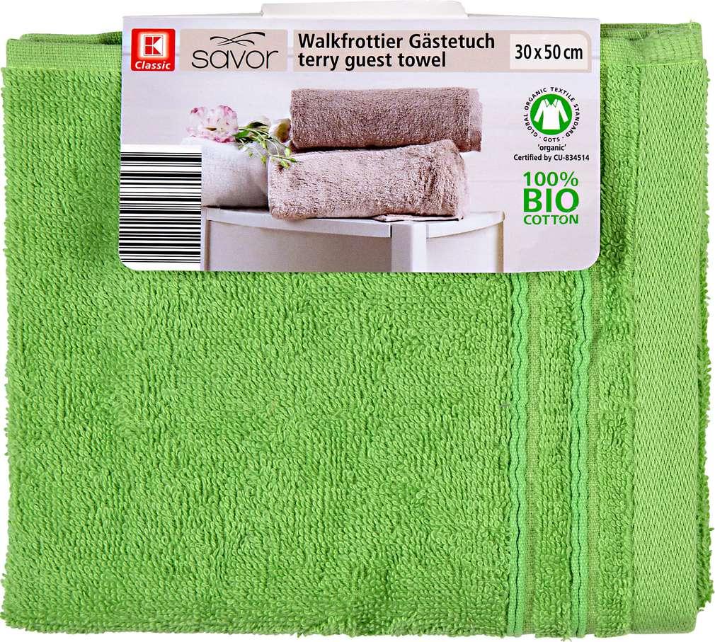 Abbildung des Sortimentsartikels Liv & Bo Gästetuch grün 30 x 50cm