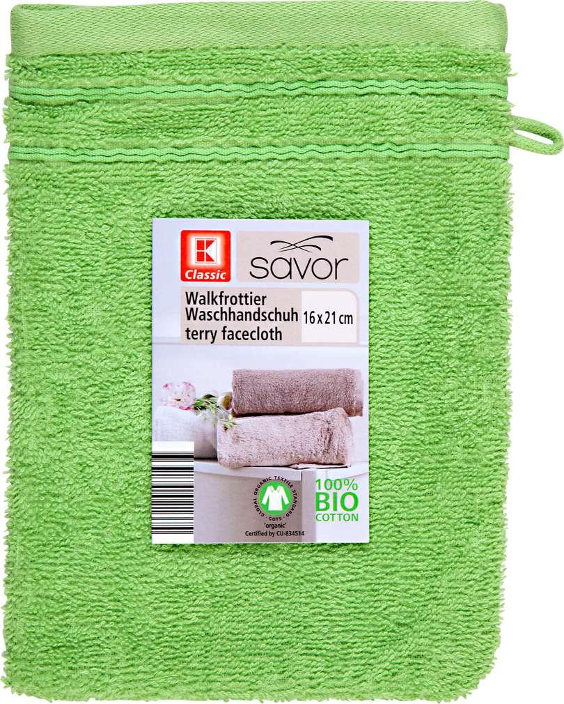 Abbildung des Sortimentsartikels Liv & Bo Waschhandschuh grün 16 x 21 cm