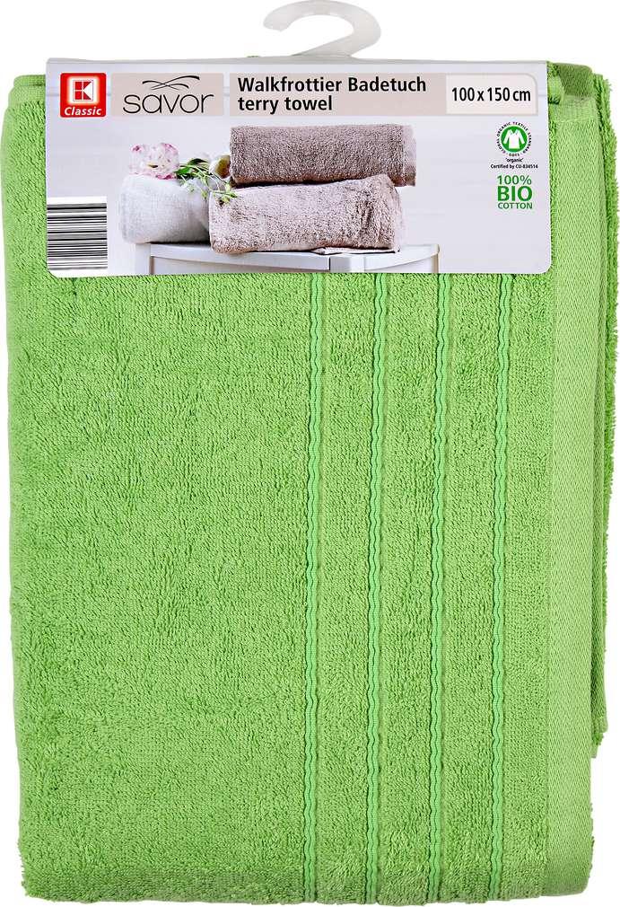 Abbildung des Sortimentsartikels Liv & Bo Badetuch grün 100 x 150 cm