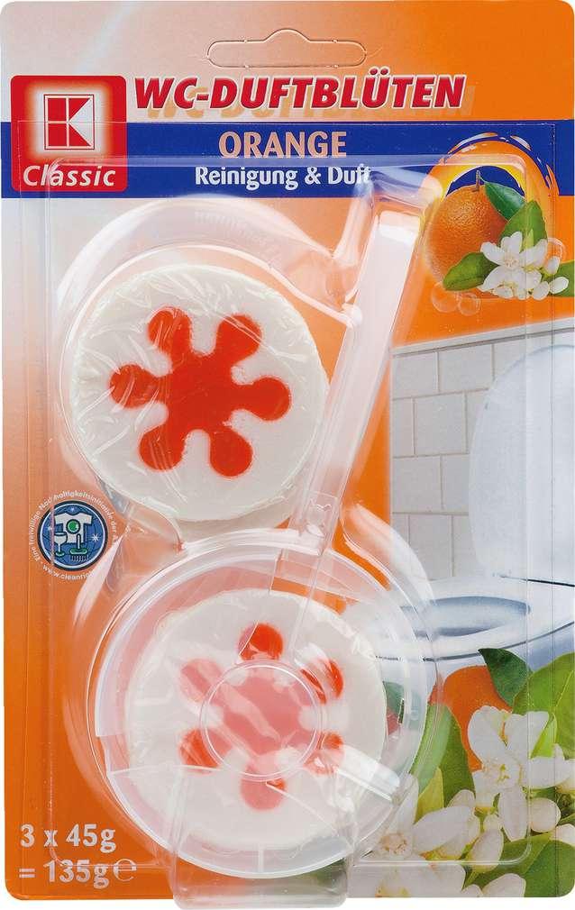 Abbildung des Sortimentsartikels K-Classic WC-Duftblüten  Orange 3x45g