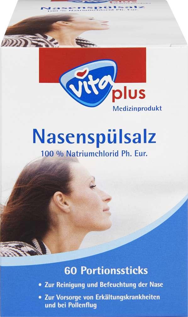Abbildung des Sortimentsartikels Vita plus Nasenspülsalz 60 Stück