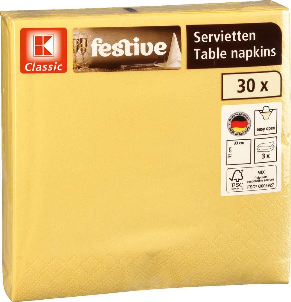 Abbildung des Sortimentsartikels K-Classic Servietten gelb 30 Stück