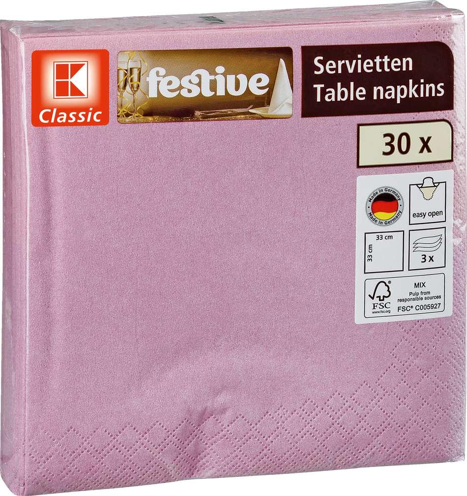 Abbildung des Sortimentsartikels K-Classic Servietten altrosa 30 Stück