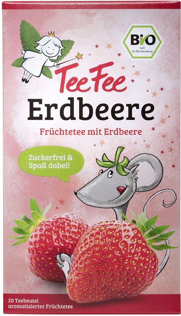 Abbildung des Sortimentsartikels TeeFee Bio Früchtetee Erdbeere 20x1,5g