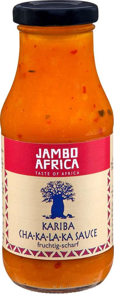 Abbildung des Sortimentsartikels Jambo Africa Kariba Cha-ka-la-ka Sauce fruchtig-scharf 240ml
