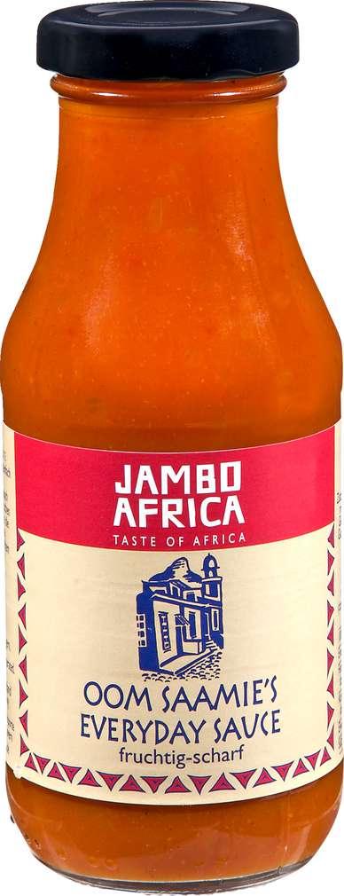 Abbildung des Sortimentsartikels Jambo Africa Oom Saamie's Everday Sauce fruchtig-scharf 240ml