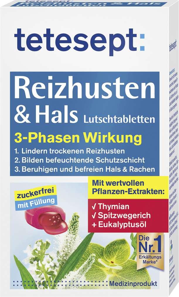Abbildung des Sortimentsartikels Tetesept Reizhusten&Hals zuckerfrei 20 Stück