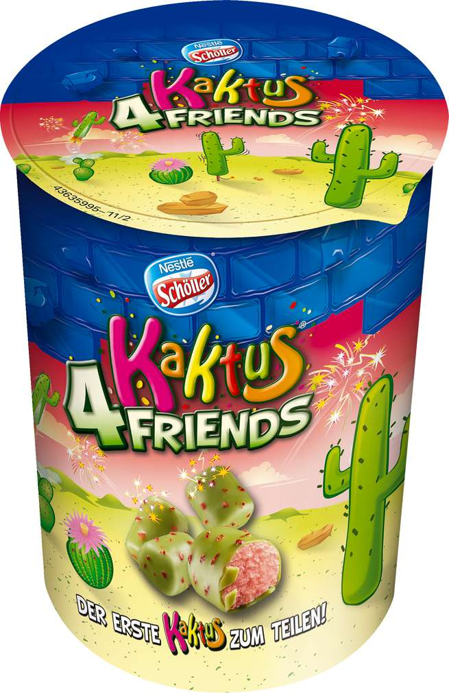 Abbildung des Sortimentsartikels Nestle Schöller Kaktus 4 Friends 90ml