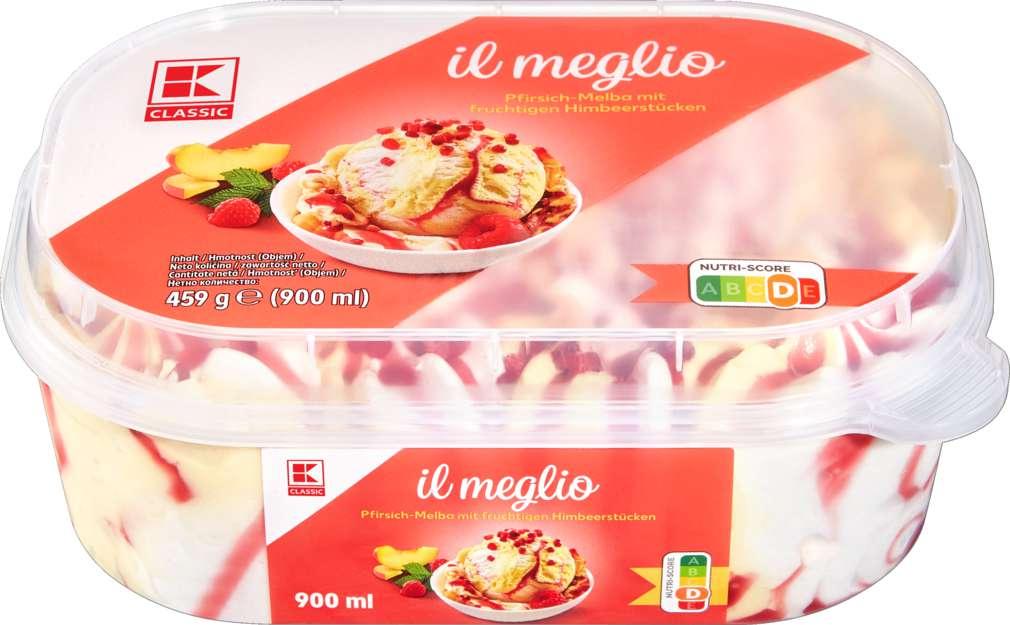 Abbildung des Sortimentsartikels K-Classic Pfirsich Melba Eis 900ml