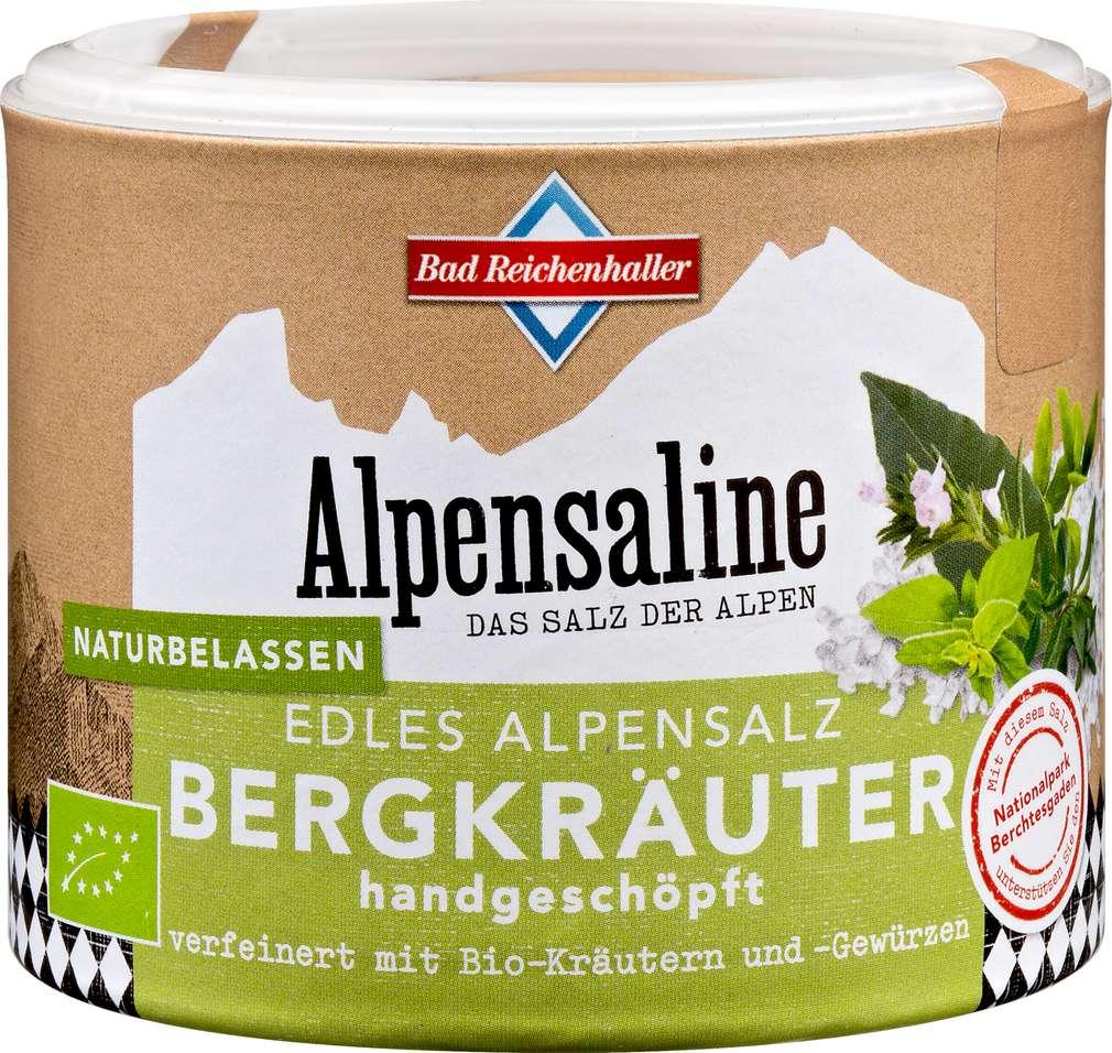 Abbildung des Sortimentsartikels Bad Reichenhaller Bergkräuter Edles Alpensalz 90g