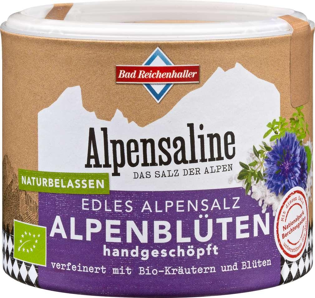Abbildung des Sortimentsartikels Bad Reichenhaller Alpenblüten Edles Alpensalz 80g