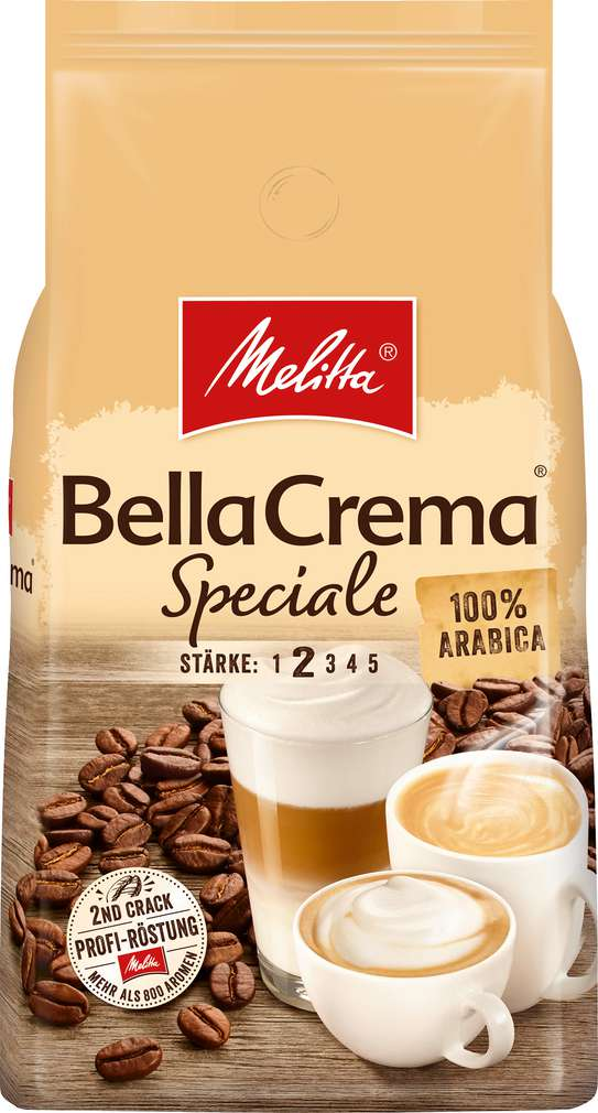 Abbildung des Sortimentsartikels Melitta Speciale ganze Bohnen 1000g