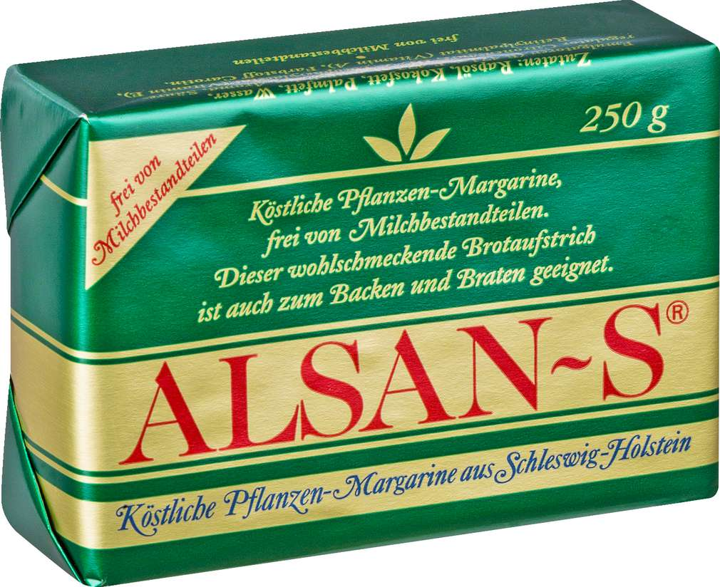 Abbildung des Sortimentsartikels Alsan -S Pflanzen-Margarine 250g