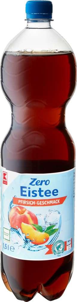 Abbildung des Sortimentsartikels K-Classic Eistee Pfirsich Zero 1,5l