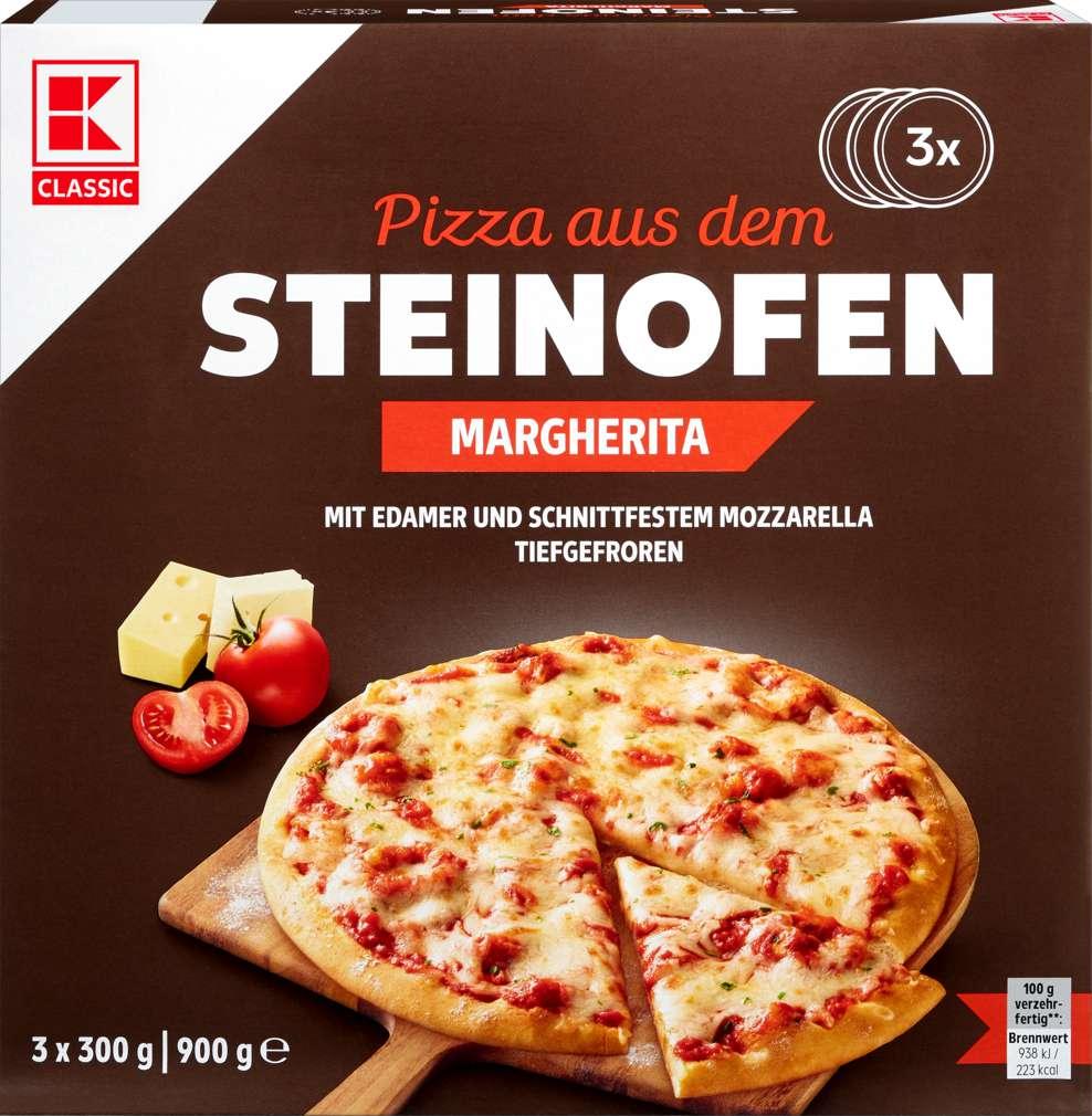 Abbildung des Sortimentsartikels K-Classic Steinofen-Pizza Margherita 3x300g