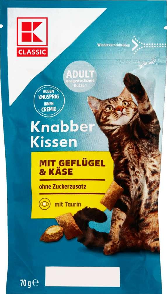 Abbildung des Sortimentsartikels K-Classic Katzensnack Knabberkissen Käse 70g