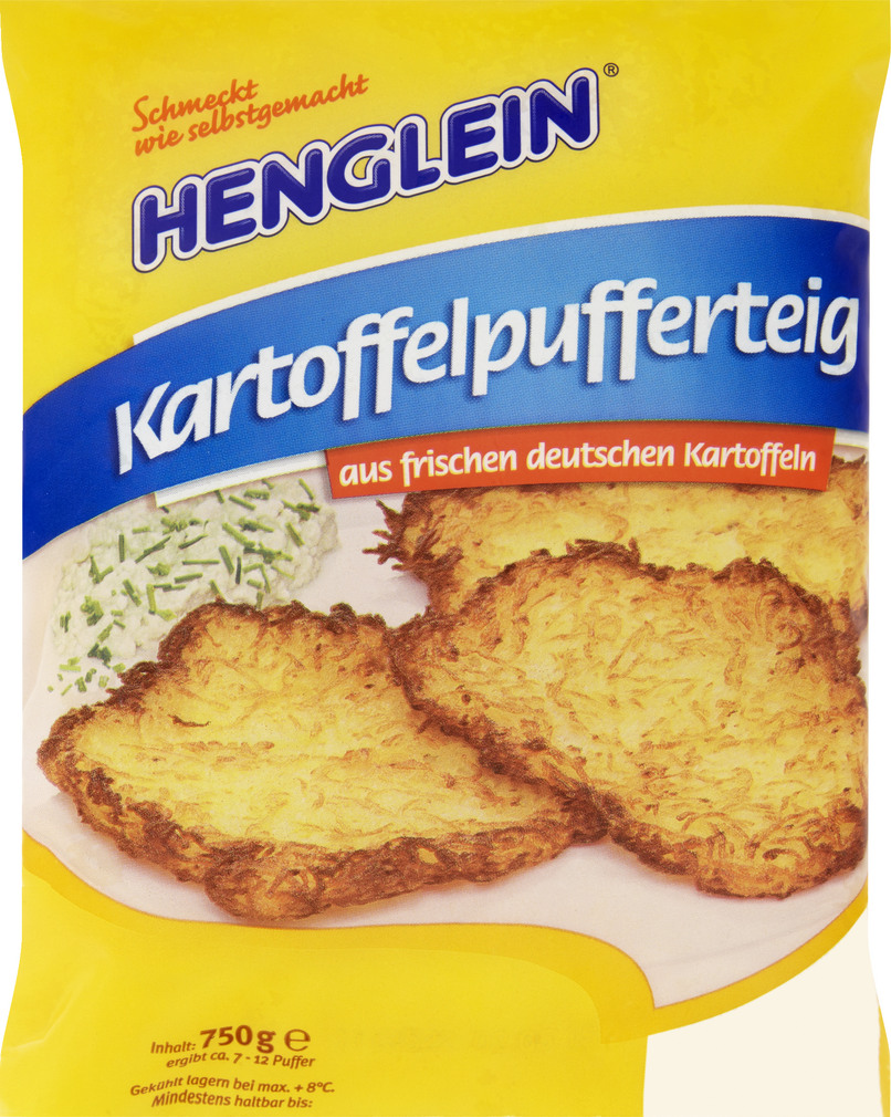 Abbildung des Sortimentsartikels Henglein Kartoffelpufferteig für Reibekuchen 750g