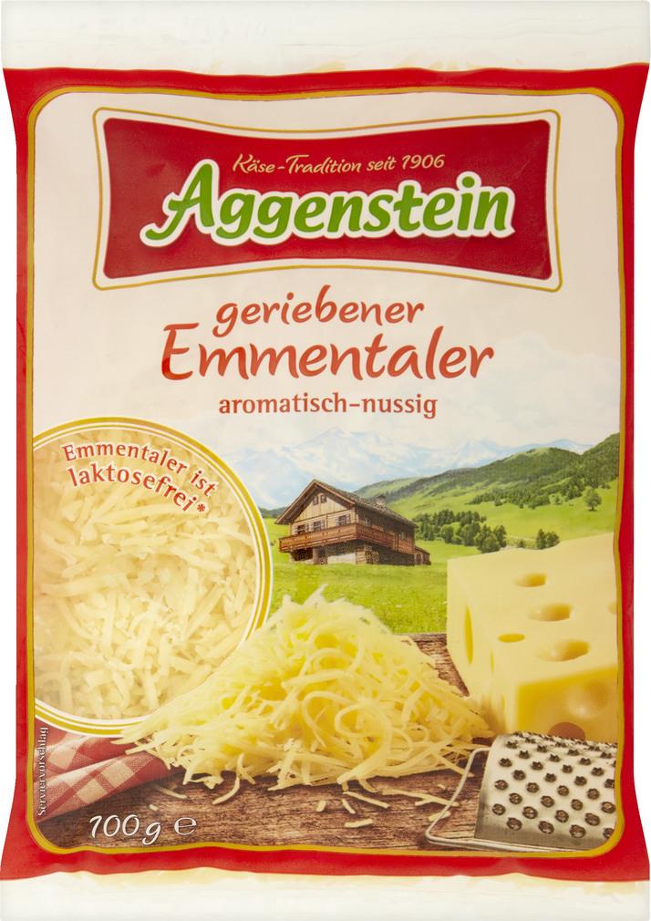 Abbildung des Sortimentsartikels Aggenstein Geriebener Emmentaler 100g