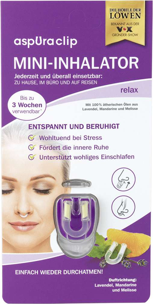 Abbildung des Sortimentsartikels Uraclip Mini-Inhalator Relax 1 Stück