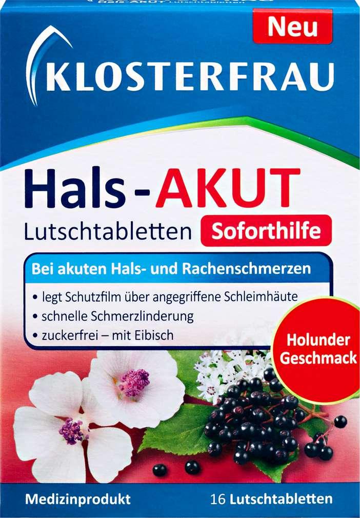 Abbildung des Sortimentsartikels Klosterfrau Hals Akut 16 Stück