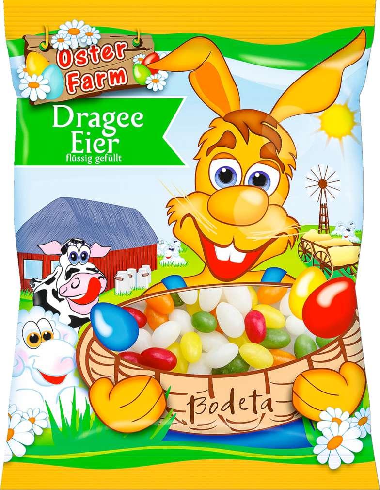 Abbildung des Sortimentsartikels Bodeta Dragee-Eier flüssig gefüllt 125g